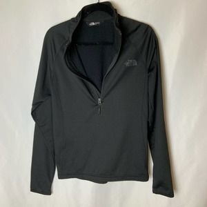 The North Face Black Half Zip Up Activewear Athletic Pullover Jacket Small